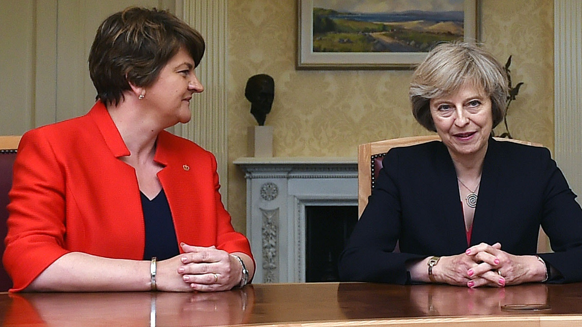 May in talks with Northern Irish parties over DUP deal